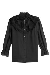 Marc Jacobs Silk Blouse With Lace Black