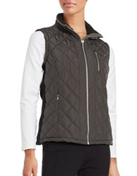 Calvin Klein Quilted Puffer Vest Charcoal