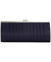 Style And Co. Carolyn Satin Clutch Navy