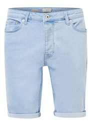 Topman Light Blue Stretch Skinny Denim Shorts