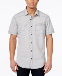 Inc International Concepts Duck Dive Short Sleeve Shirt Only At Macy's Light Grey
