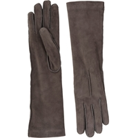 Barneys New York Cashmere Lined Long Gloves Gray