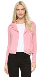 Boutique Moschino Moto Sweater Jacket Pink