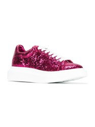 Alexander Mcqueen Glitter Sneakers Pink And Purple