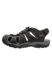 Lumberjack Way Walking Sandals Black Dark Grey