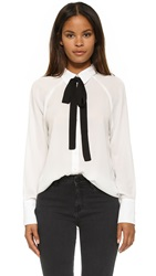 Wayf Tie Neck Button Down