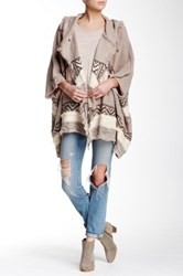 Dreamers By Debut Hooded Oversized Knit Cardigan Multi