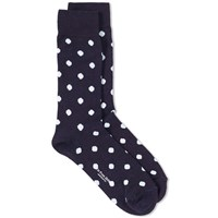 Blue Blue Japan Jacquard Dot Sock Blue