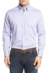 Men's Peter Millar 'Seaside Collection Windowpane Plaid' Regular Fit Sport Shirt Mirage