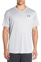 Under Armour Men's 'Ua Tech' Loose Fit Short Sleeve V Neck T Shirt Overcast Grey