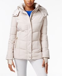 Calvin Klein Fleece Lined Hooded Puffer Coat Barley