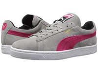 Puma Suede Classic Drizzle Rose Red Black Women's Shoes Gray