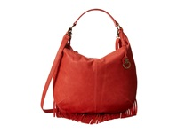 Lucky Brand Bailey Convertible Hobo Hibiscus Hobo Handbags Pink