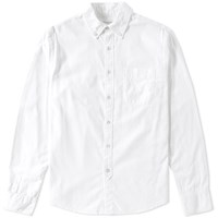Save Khaki Button Down Oxford Shirt White