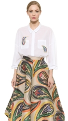 Vika Gazinskaya Blouse With Paisley Print White