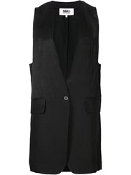 Maison Martin Margiela Mm6 Maison Margiela Sleeveless Blazer Jacket Black