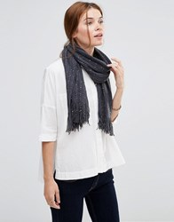 Lavand Knitted Scarf Grey