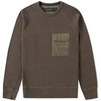 Rag And Bone Aviator Pocket Sweat Green