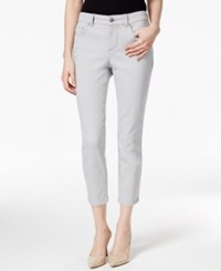 Charter Club Petite Tummy Control Boulder Wash Capri Jeans Only At Macy's