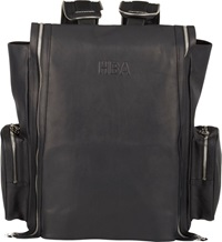 Hood By Air Zipper Detail Leather Backpack Black