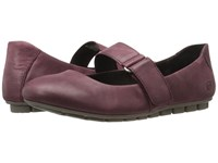 Born Malli Wine Full Grain Leather Women's Flat Shoes Burgundy