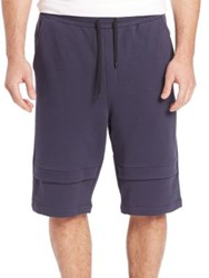 Public School Zagut Cotton Shorts Navy