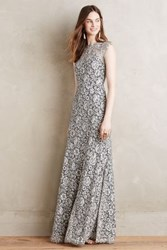 Anthropologie Marcella Lace Gown Ivory