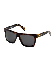 Diesel Square Sunglasses Brown