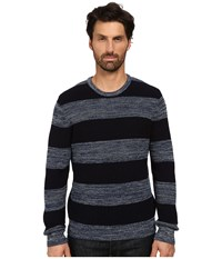 Lucky Brand Holiday Stripe Sweater Indigo Men's Sweater Blue