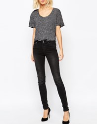 Weekday Body Super Stretch Skinny Washed Denim Jean Grey