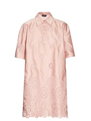 Rochas San Gallo Duchesse Lace Dress Pink