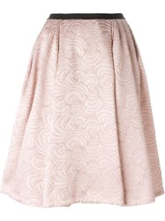 Antonio Marras Flared Brocade Skirt Pink And Purple