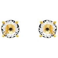 Monet Glass Crystal Stud Earrings Gold