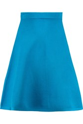 Roland Mouret Nile Stretch Knit Mini Skirt Blue