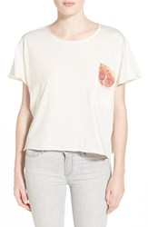 Wildfox Couture 'Save It For Later' Crop Tee Vintage Lace