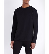 Cheap Monday Curb Crewneck Stretch Cotton Top Black