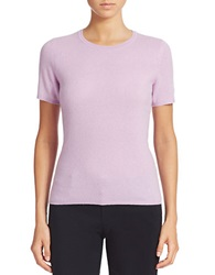 Lord And Taylor Short Sleeve Cashmere Crewneck Sweater Lavender