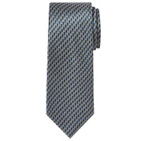 Chester Barrie By Chevron Zigzag Silk Tie Blue Grey Blue Grey