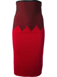 Jean Paul Gaultier Vault High Waisted Skirt Red