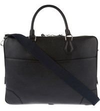 Dunhill Boston Leather Double Zip Briefcase Black