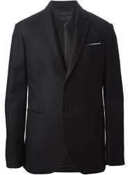 Neil Barrett Pocket Square Detail Blazer Black
