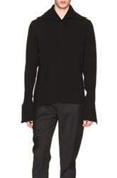 J.W.Anderson J.W. Anderson Open Collar Sailor Shirt In Black