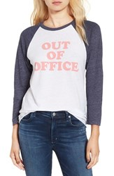 Sub Urban Riot Women's 'Out Of Office' Graphic Baseball Tee