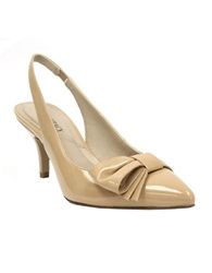 Ellen Tracy Hillard Slingback Pumps With Bow Accent Camel
