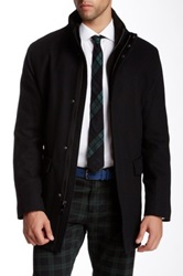 Andrew Marc New York Hearts Wool Blend Twill Coat Black