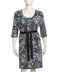 Melissa Masse Scoop Neck Dotted Print Dress Black Coba