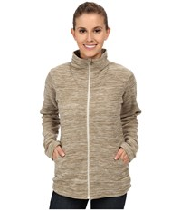 Mountain Hardwear Snowpass Full Zip Fleece Heather Khaki Women's Fleece Beige