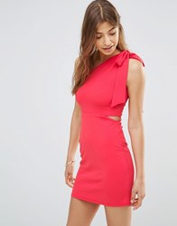 Oh My Love One Shoulder Bodycon Dress Pink