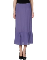 L'autre Chose L' Autre Chose 3 4 Length Skirts Purple