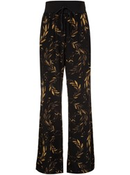 Osklen Laurel Print Silk Pants Black